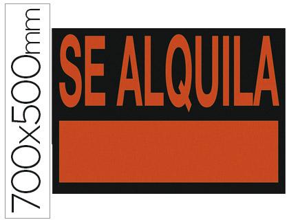 Carteles plastico MARCA BLANCA CARTEL PLASTICO SE ALQUILA ROJO FLUORESCENTE 700X500 MM