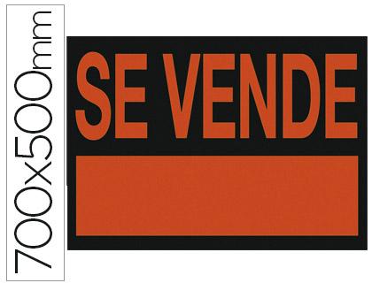 Carteles plastico MARCA BLANCA CARTEL PLASTICO SE VENDE ROJO FLUORESCENTE 700X500 MM
