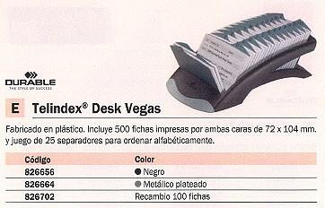 DURABLE FICHERO DESK VEGAS CAJA 100 UD 72 X 104 MM HORIZONTAL 826702
