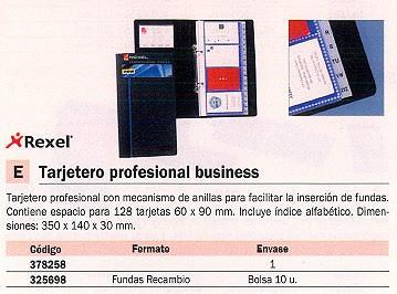 REXEL TARJETERO 350X140X30 PARA 128 TARJETAS INCLUYE INDICE ALFABETICO 2101131