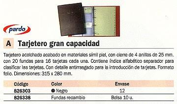 PARDO TARJETERO 315X280 4-25 MM SIMÍL PIEL 17501