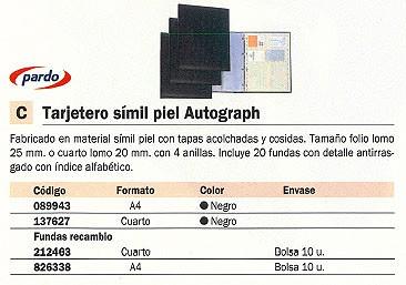 PARDO RECAMBIO TARJETERO AUTOGRAPH 10 FUNDAS 212800