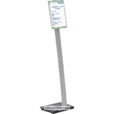 DURABLE EXPOSITOR METÁLICO INFO SIGN STAND A4 ALTURA MAX.118CM 4812-23