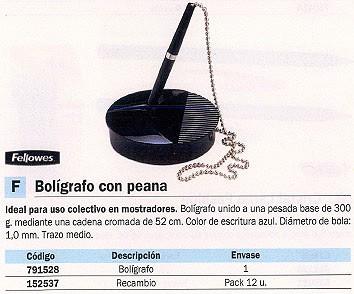 FELLOWES BOLÍGRAFO CON PEANA AZUL TRAZO MEDIO PEANA 300 G 9821502