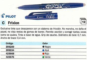 PILOT BOLÍGRAFO ESPECIAL FRIXION VERDE BL FR7 G