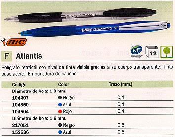 BIC BOLIGRAFO RETRACTIL ATLANTIS ROJO 887133