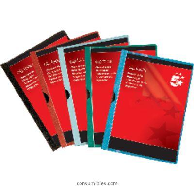 Dossiers con clip 5 ESTRELLAS DOSSIERS CLIP CAPACIDAD 30 HOJAS A4 ROJO PVC 536100