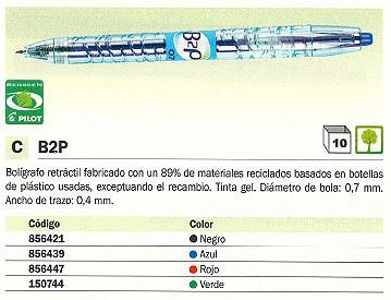 PILOT ROLLER B2P NEGRO TRAZO 0,4 MM TINTA GEL NB2P7N