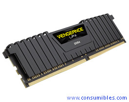 MEMORIA CORSAIR DDR4 16GB 2X8GB PC 2400 VENGEANCE LPX BLACK