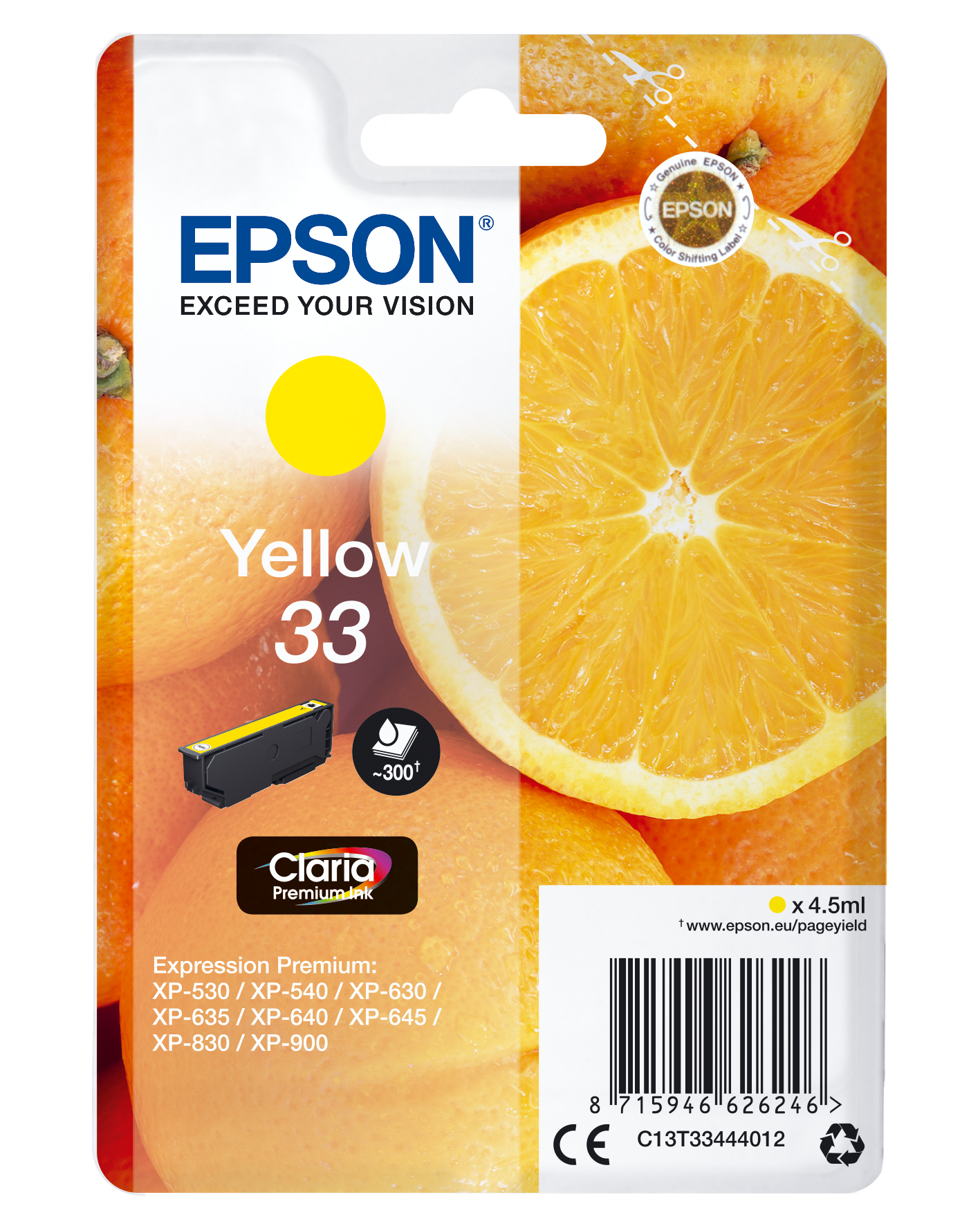 Comprar Cartucho de tinta C13T33444022 de Epson online.