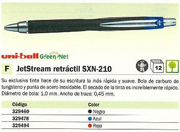 ROLLER JETSTREAM RETRÁCTIL SX 210 ROJO TRAZO 0,45 M