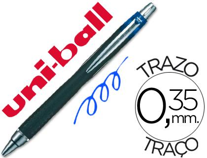 Retractil ENVASE DE 12 UNIDADES BOLÍGRAFO UNI-BALL JETSTRAM SXN-210 RETRACTIL COLOR AZUL