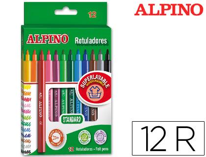 En cajas ENVASE DE 12 UNIDADES ALPINO ROTULADOR ALPINO -CAJA DE 12 COLORES