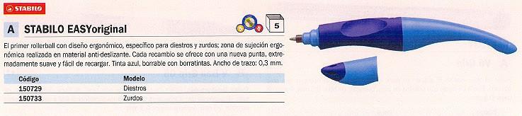 ROLLER EASY ORIGINAL AZUL TRAZO 0,3 MM B 46843 5