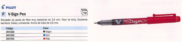 ROTULADOR V SIGN PEN NEGRO TRAZO 0,6 MM SW VSP B