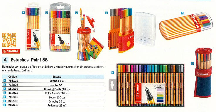 STABILO ESTUCHE ROTULADORES POINT 88 COLORES SURTIDOS TRAZO 0,4 MM 25UD 8825-021