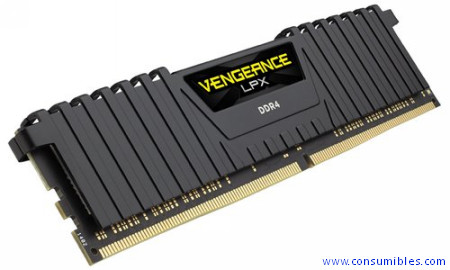 MEMORIA CORSAIR DDR4 32GB 2X16GB PC 2400 VENGEANCE LPX BLACK