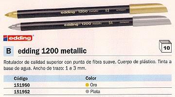 EDDING ROTULADOR 1200 METALLIC ORO TRAZO 1 A 3 MM 1200-53