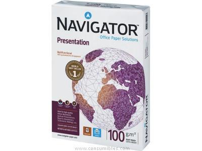 ENVASE DE 5 UNIDADES NAVIGATOR PRESENTATION. PAPEL MULTIFUNCION 500H 100 G. A4 0569PN