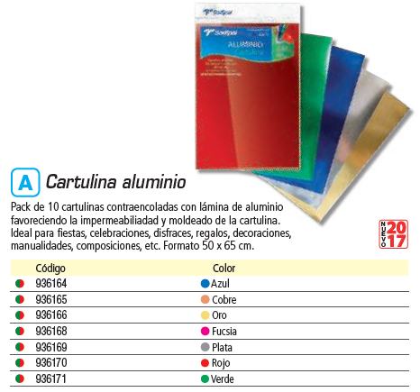 SADIPAL PACK 10 CARTULINA ALUMINIO FUCSIA 50X65 CM. SAD20288
