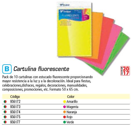 SADIPAL PACK 10 CARTULINAS FLUORESCENTES NARANJAS 50X65 CM. SAD15409