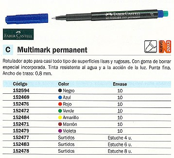 FABER MARC PERM MULTIMARK PTA F NG 151399. COLOR NEGRO.