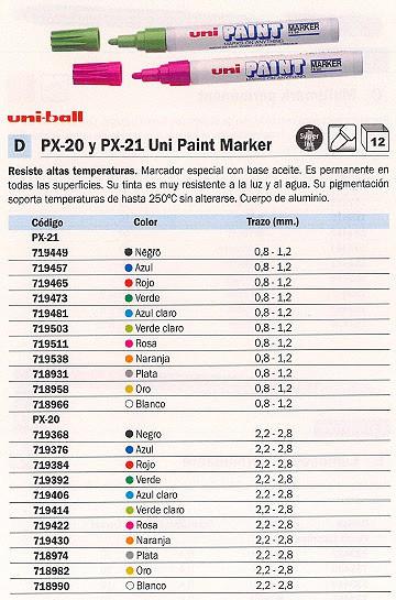 ESPECIAL PX 21 TRAZO 0.8 1.2 MM PUNTA CÓNICA TINTA