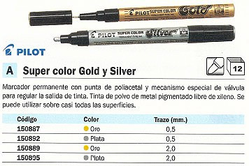 PILOT ROTULADOR SUPER GOLD. COLOR ORO. REF.SC G M