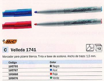 VELLEDA PIZARRA BLANCA VELLEDA 1741 TRAZO 1,5 MM PUNTA CÓNICA AZUL 1199174106