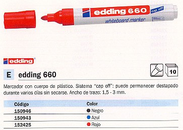 EDDING PIZARRA 660 ROJO 660-02