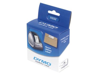 Etiquetas ETIQUETA ADHESIVA DYMO 99013 -TAMAÑO 89X36 MM PARA IMPRESORA 400 260 ETIQUETAS USO DIRECCIONES PLASTICO TTE.