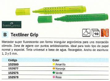FABER CASTELL FLUORESCENTE TEXTLINER GRIP TRAZO 1,2 Y 5 MM ROSA 154363