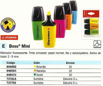 Marcadores fluorescentes STABILO MARCADOR FLUORESCENTE BOSS TRAZO 2- 5 MM PUNTA BISELADA NARANJA 07/24