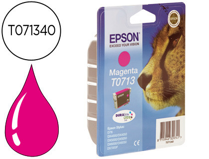 Epson Cartucho de tinta magenta C13T07134012 T0713 250 Copias 5.5ml