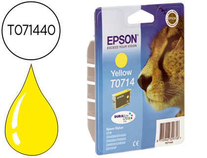 Epson Stylus D-78/92/120/DX-4000/5000/6000/7000F Cartucho Amarillo
