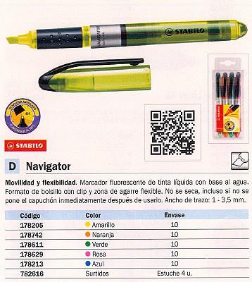FLUORESCENTE NAVIGATOR TINTA LIQUIDA ROSA 545/56