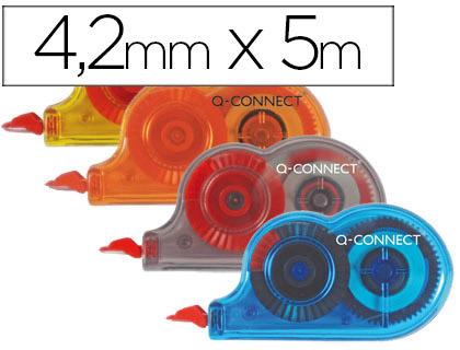 CORRECTOR Q-CONNECT CINTA MINIBLANCO 4,2MM.X 5 M. -BOMBONERA DE 28 UNIDADES