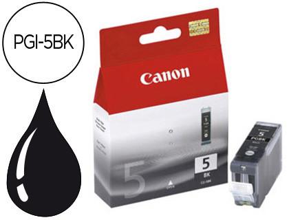 Cartucho de Tinta Negro gran Canon PGI-5BK