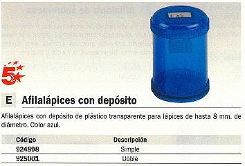 5 STAR AFILALÁPIZ SIMPLE AZUL CON DEPOSITO PLÁSTICO 0059800