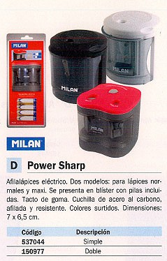MILAN AFILALÁPIZ POWER SHARP ELECTRICO DOBLE COLORES SURTIDOS 7X6,5 CM BWM10278