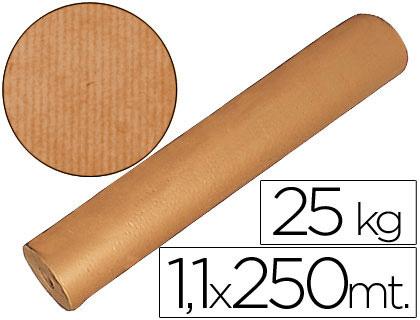 Papel kraft MARCA BLANCA PAPEL KRAFT MARRON 1,10 MT X 250 MTS ESPECIAL PARA EMBALAJE