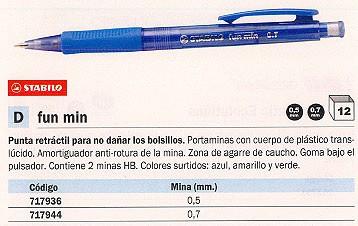STABILO PORTAMINAS FUN MIN RETRACTIL TRAZO 0.7 MM 3837