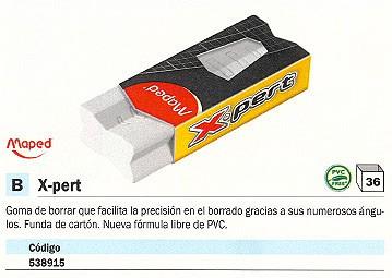 ENVASE DE 20 UNIDADES MAPED GOMA DE BORRAR X PERT BLANCA 118311