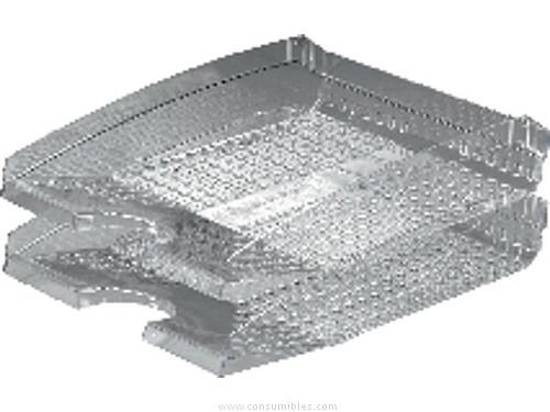 Conjuntos de sobremesa DURABLE BANDEJAS SOBREMESA TREND 337X250X70 TRANSPARENTE PLASTICO APILABLE 1701626400