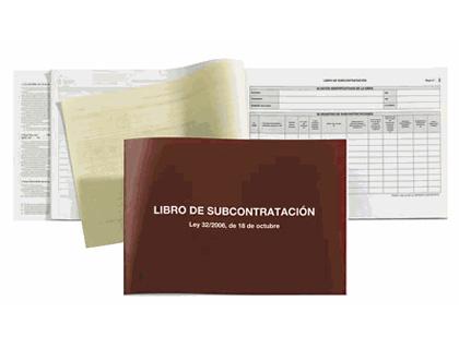 Libros subcontratación LIBRO SUBCONTRATACION MIQUEL RIUS FOLIO NATURAL JUEGO DE 10 HOJAS AUTOCOPIATIVAS 5089