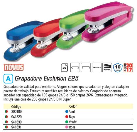 NOVUS GRAPADORA EVOLUTION E25 ROJA 020-1765