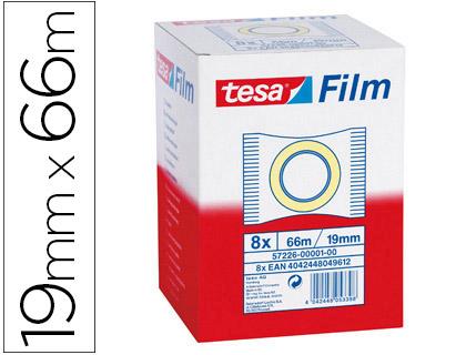 Cintas adhesivas ENVASE DE 8 UNIDADES CINTA ADHESIVA TESA STANDARD 66 MT X 19 MM