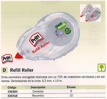 RECAMBIO CINTA CORRECTORA REFILL ROLLER 4,2 MMX14M NO