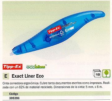 TIPP-EX CINTA CORRECTORA EXACTLINER 5MMX6M AZUL TRANSLUCIDO 8104755