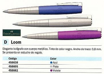 FABER CASTELL BOLÍGRAFO LOOM VIOLETA TRAZO 0.8 MM TINTA NEGRA 149303